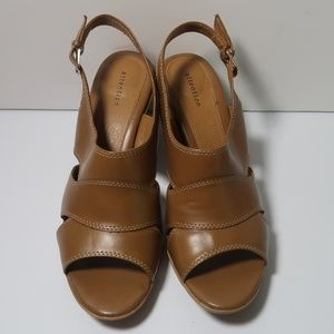 "Women's ""Attention"" Cognac Sandals Heels Size 11"